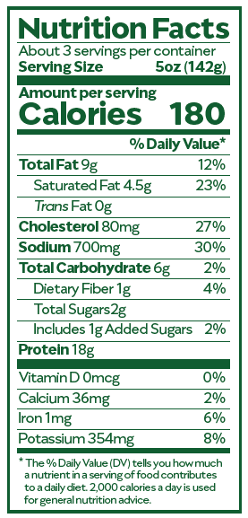 Jocón Nutrition Facts